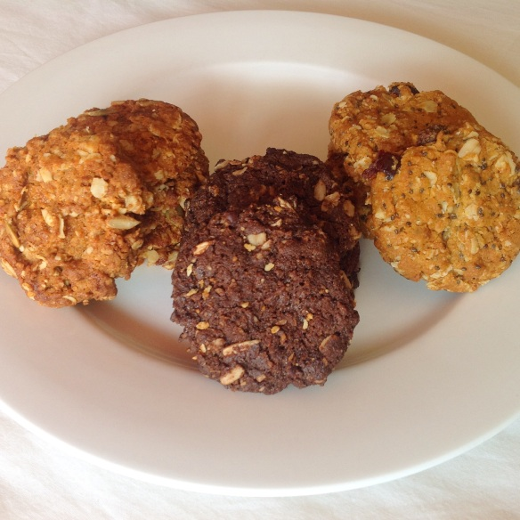 Anzac biscuits on display