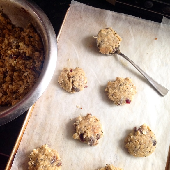Spoonfuls of Anzac biscuit dough